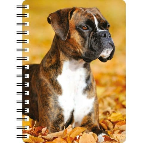 Brindle Boxer 3D Notebook,  great Christmas stocking filler